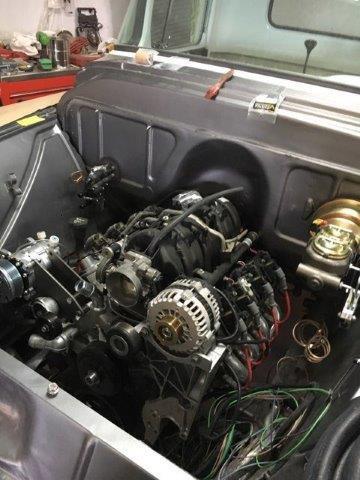 LS Engine on Custom Chevy Truck